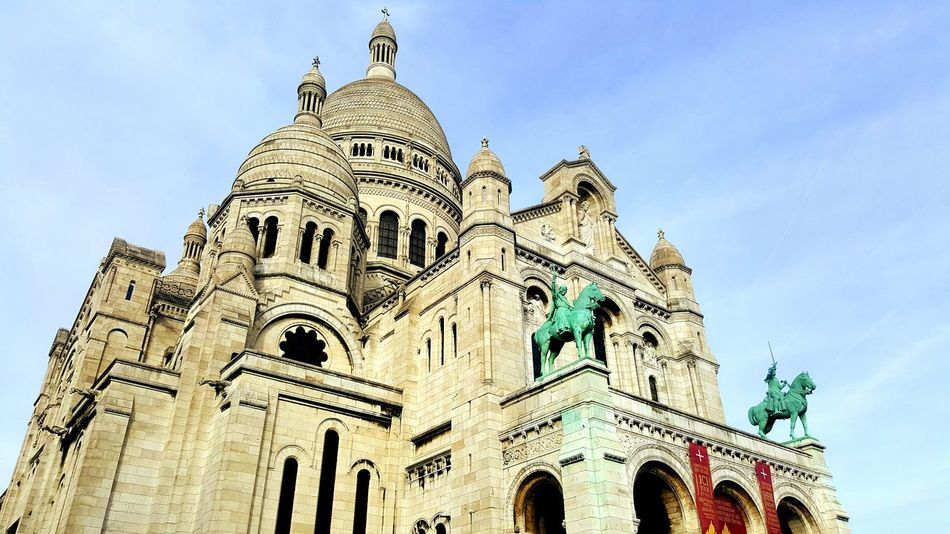 Basilique du Sacré-Coeur, Paris Travel Destinations History No People Architecture Outdoors Day Façade Tourism Cathedrale Church Paris, France  Picoftheday Beautiful World Montmartre City Paris Built Structure Sky Building Exterior Travel Architecture Tranquility Sacre Coeur Sacre Coeur Sacré Coeur, Paris