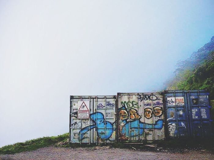 No People Outdoors Gotoreunion Reunion Island Mafate Circus Mafate Contener Streetart Brouillard