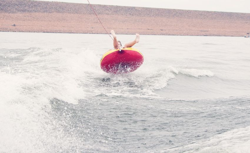 Flying high Colorado Photography Water Sports Tubing EyeEm Selects Red Motion Food Water Nature Splashing Wellbeing One Person Outdoors