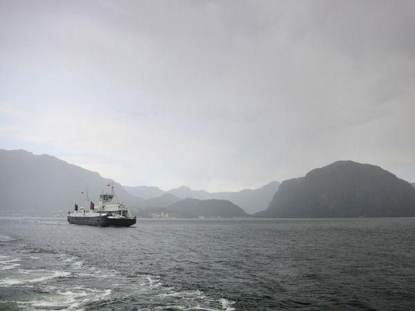 Ferry Fjord Lysefjord Norway Sea Stavanger View