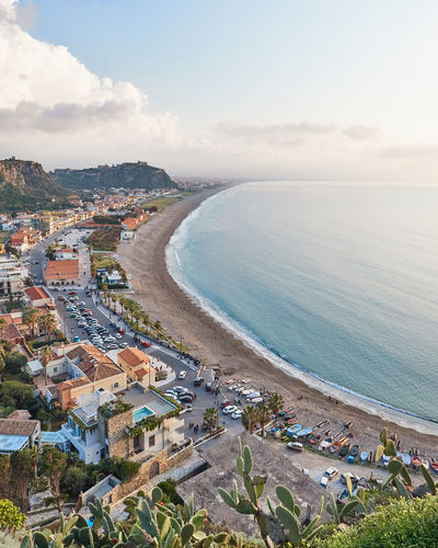 View from above of Milazzo (Messina, Sicily). Water Sky Nature Beauty In Nature Outdoors Sea High Angle View Beach Building Exterior Built Structure Land City Scenics - Nature Day Travel Building No People Cityscape Sicily Italy Messina Landscape Milazzo Beach Milazzo Landscape_photography