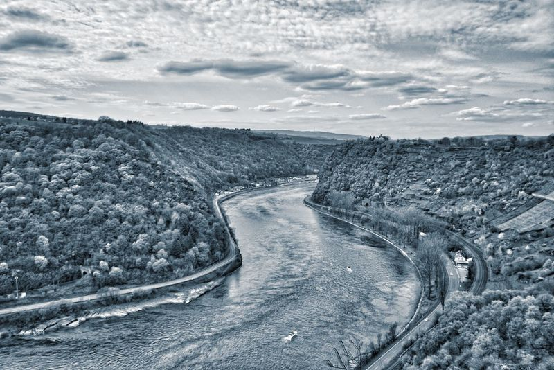 Blick auf die Loreley Beauty In Nature Cloud Cloud - Sky Cloudy Day Diminishing Perspective Horizon Over Land Idyllic Landscape Loreley Loreleyfelsen Nature No People Non Urban Scene Non-urban Scene Outdoors Remote Rock - Object Scenics Sky The Way Forward Tranquil Scene Tranquility Water