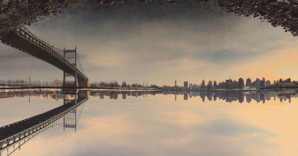 Bridge - Man Made Structure Sky Reflection Architecture Cloud - Sky