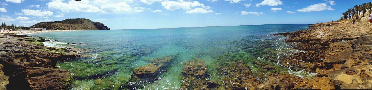 Panoramic Shot Of Sea Against Sky