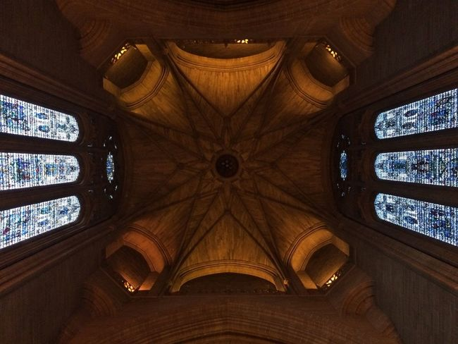 Always look up! Liverpool Cathedral Vaulted Ceiling No Filter IPhone 5S