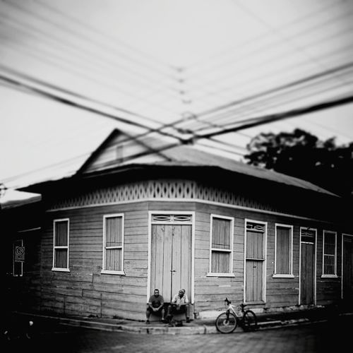 Built Structure Architecture Outdoors Day Building Exterior House Black & White Blackandwhite Sky Costa Rica People