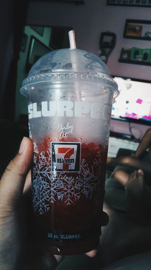 Slurpee Human Body Part Human Hand Indoors  Drink Close-up One Person People Day