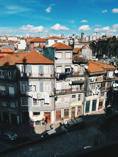 Porto Portugal Architecture Building Building Exterior Built Structure City Cloud - Sky Community Day High Angle View House No People Residential District Row House Sky Town TOWNSCAPE Window