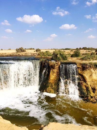 Wadi Al Rayan, Fayoum, Egypt Water Nature Beauty In Nature Scenics Sky Waterfall Day No People Tranquility Splashing Outdoors Landscape Egypt Desert Lake Miles Away