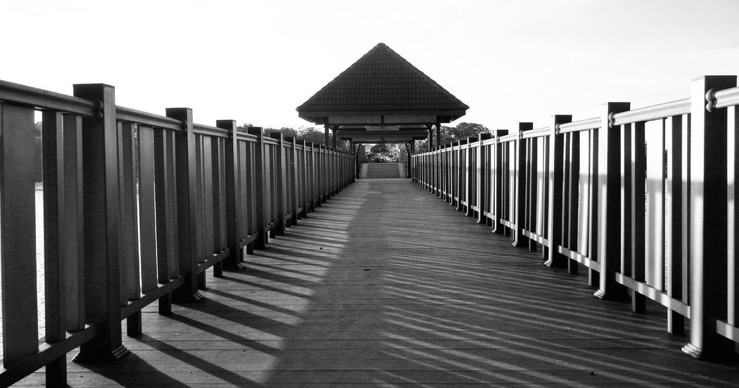 Outdoors No People Built Structure Day Architecture Blackandwhite Photography Portdickson Malaysia Bridge Perspective Shadows