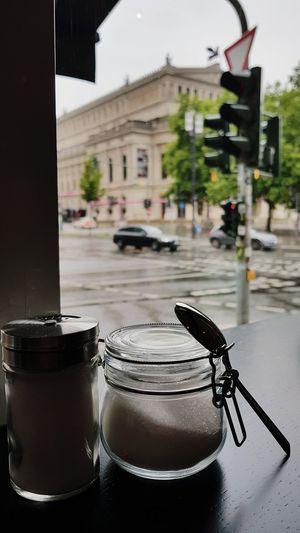 《 City Life Rainy Days Drinking Coffee Sugar Enjoying The View Good Vibes Only Chinaski Tagesbar Frankfurt Am Main 》