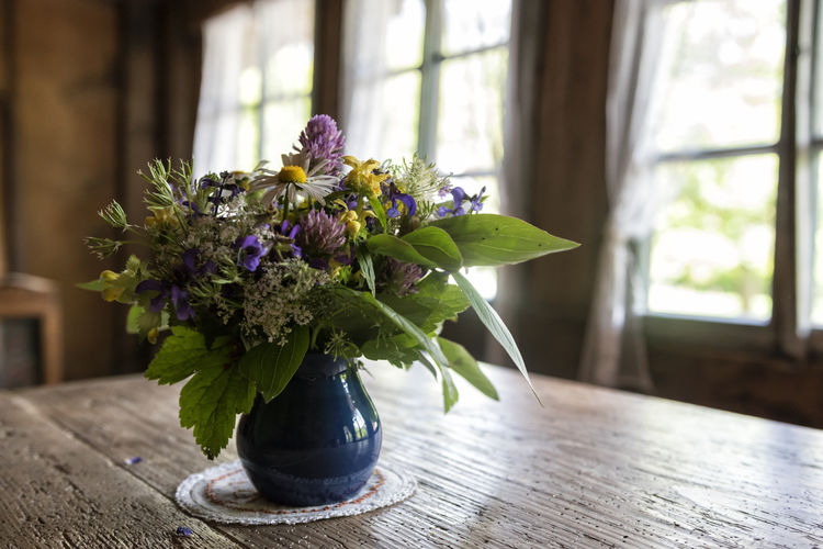 Ramalhete de flores Beauty In Nature Bouquet Bouquet Of Flowers Close-up Day Daylight EyeEmNewHere Flower Flower Arrangement Flower Collection Flowers Fragility Freshness Home Interior Indoors  Nature No People Plant Plant Plants And Flowers Rustic Swiss Table Vase