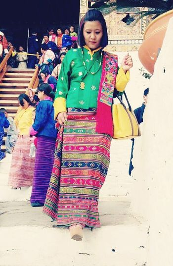 National Dress Bhutan Festival Tshechu