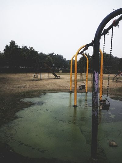Playground Park - Man Made Space Outdoor Play Equipment No People Water Sky Day