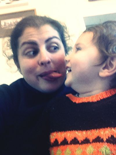 Everyday Joy My beautiful boy catching me sticking my tongue out while we are taking a selfie!