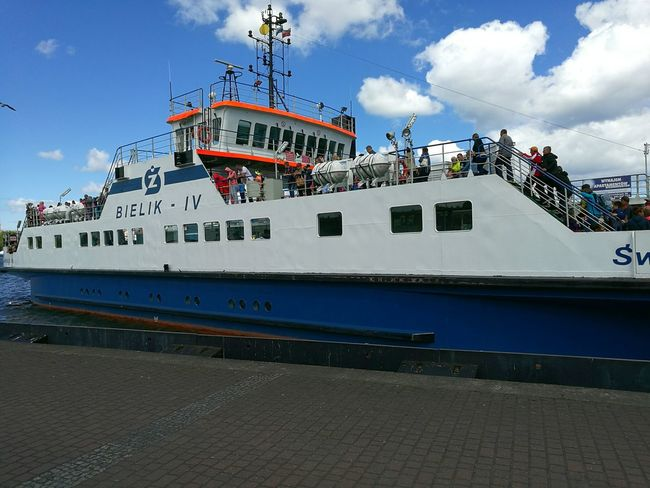 Seaside Sea Ship Cruise Trip Travelling Beach Seagull Poland Wolin Water Clear Sky Sea Travel