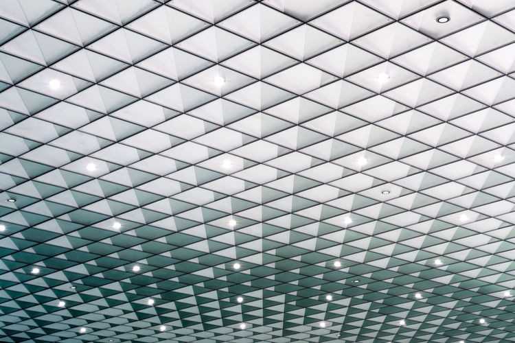 Futurium The Architect - 2018 EyeEm Awards Abstract Abstract Backgrounds Alloy Architecture Backgrounds Built Structure Ceiling Close-up Design Flooring Full Frame Geometric Shape Grid Indoors  Metal Modern No People Pattern Repetition Shape Silver - Metal Silver Colored Steel Textured  Tiled Floor