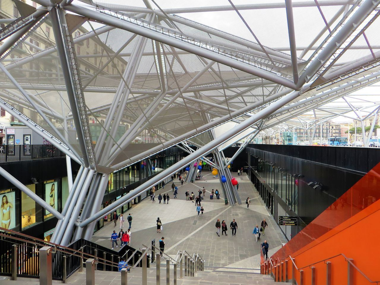 architecture, built structure, large group of people, real people, indoors, transportation, modern, lifestyles, men, women, day, people
