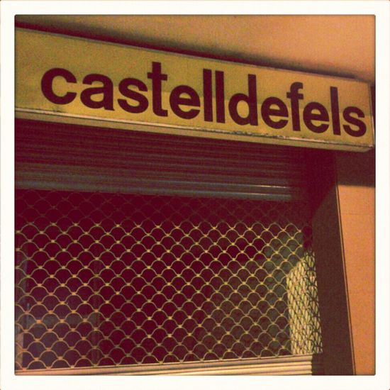 Sign Signboard Castelldefels Tipography