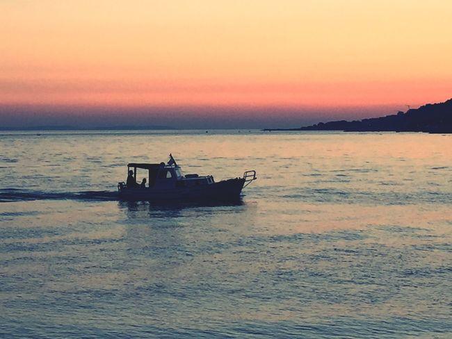 Sunset Water Sea Transportation Boat Scenics Beauty In Nature Horizon Over Water Silhouette Nature Idyllic Calm Showcase September Croatia Dalmatian Omis Croatia