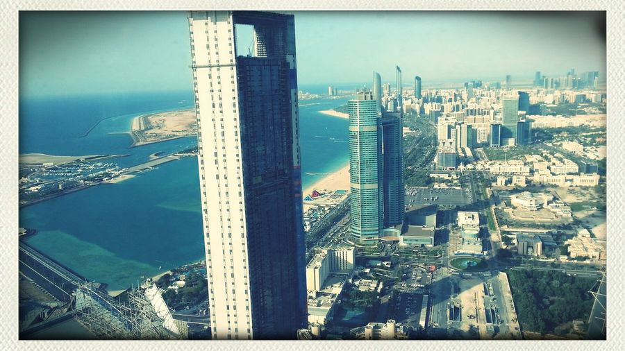 View from Observation deck at Etihad towers UAE Abu Dhabi