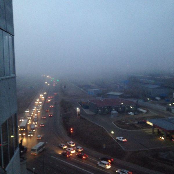 смог туман мгла УланУдэ ноябрь