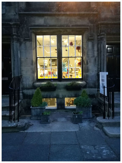 Window Architecture Built Structure Building Exterior Architecture Shop Staircase symmetrical Historic Buildings Historic Town Stone Building Falkland Fife Tourism Attractions Scenic Beauty Leisure