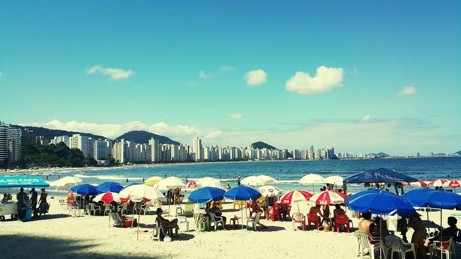 Sunny Day Sunny☀ Beach Beach Photography Guarujá Brazil ❤
