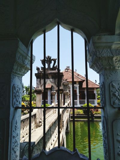 Architecture Built Structure Arch Window Travel Destinations Day No People Building Exterior Clear Sky Outdoors Sky INDONESIA Bali Indonesia_allshots Travel Architecture Castle Framed View Taman Ujung