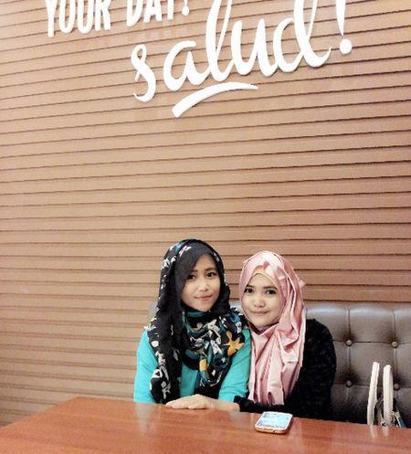 ma gal Enjoying Life Hijab Style My Bestfriends Selfie Portrait
