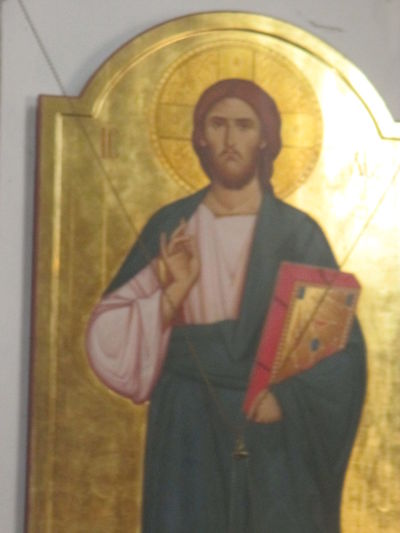 Icon Jesus Christ Orthodox Art Paint The Town Yellow Architecture Close-up Day Gold Human Representation Indoors  One Person Orthodox People Real People Religion Standing Statue Young Adult