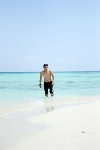 ai em Beach Sea Blue Sky Myself Karimunjawa INDONESIA