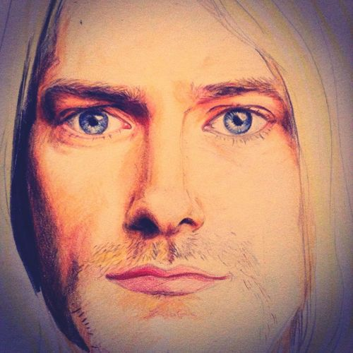 Art Color Portrait Drawing Kurt Donald Cobain