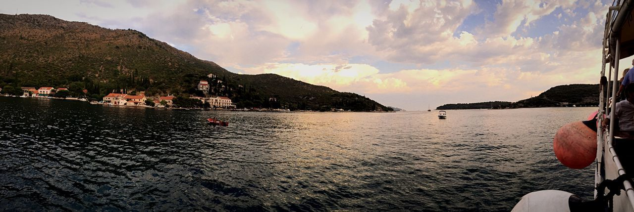 Boating on the Adriatic Sea Dubrovnik Dalmatian Water Water_collection Escaping Sunset Croatia IPhoneography