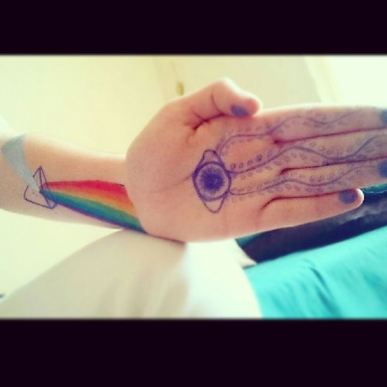 Drawing Hamsa Hamsa Hand Namaste... Namaste ❤ Spectrum Drawing On Myself