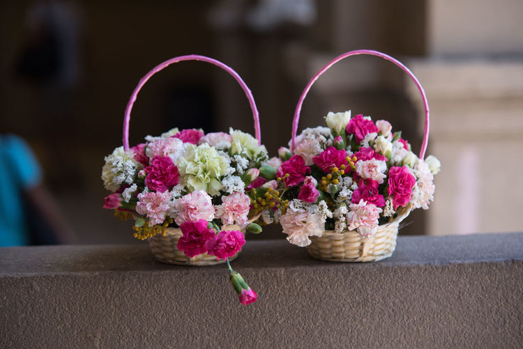Flowers for wedding Wedding Flower Girl Marriage  Flower Flowering Plant Plant Focus On Foreground Close-up Freshness Pink Color Vulnerability  Fragility Beauty In Nature No People Decoration Nature Indoors  Day Basket Flower Arrangement Art And Craft Petal Flower Head Bouquet Bunch Of Flowers