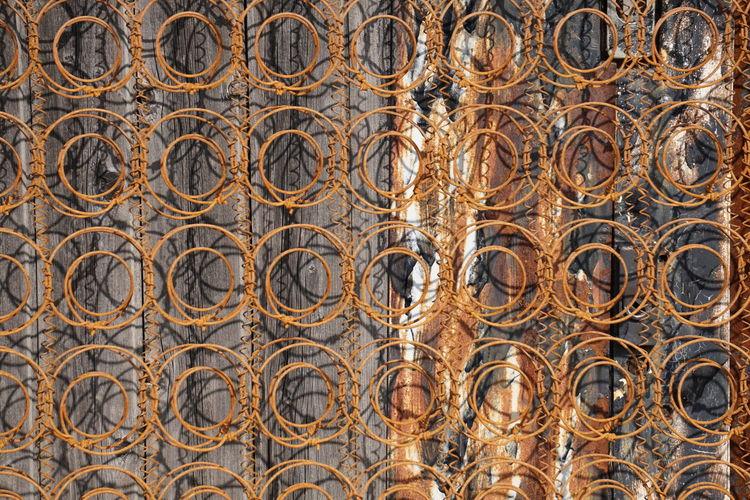 Full Frame Shot Of Metallic Design