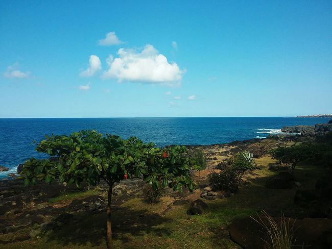 Ouah Splendide 😍😍😍 Nature Water Blue Sea Horizon Over Water Beauty In Nature Day Cloud - Sky Beach Cloud First Eyeem Photo