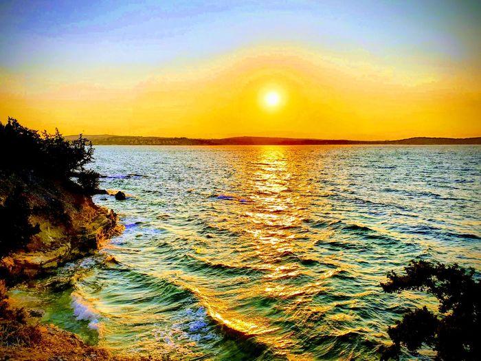 Sunrise Sea Landscape Turkey Beautiful Nature Sun Sky Calm Peaceful HUAWEI Photo Award: After Dark A New Beginning