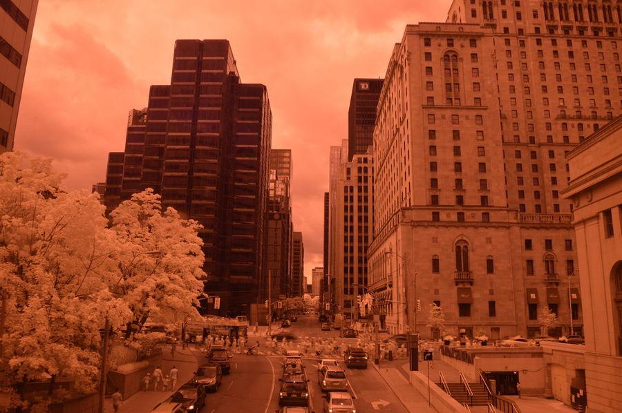 Toronto York Street - As Seen From The Union Station PATH Walk [IR+UV] Nikon D3200 full spectrum | Nikkor 18-55mm Kit Lens | 18mm | ƒ5.6 | 1/6 sec | ISO 100 | Aperture Priority Auto | B+W 403 UV+IR Passing Filter B4after Exif
