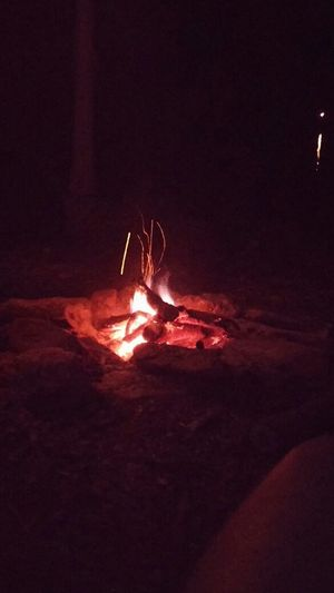 I was sit on the chair, I watch fire. Camp Fire