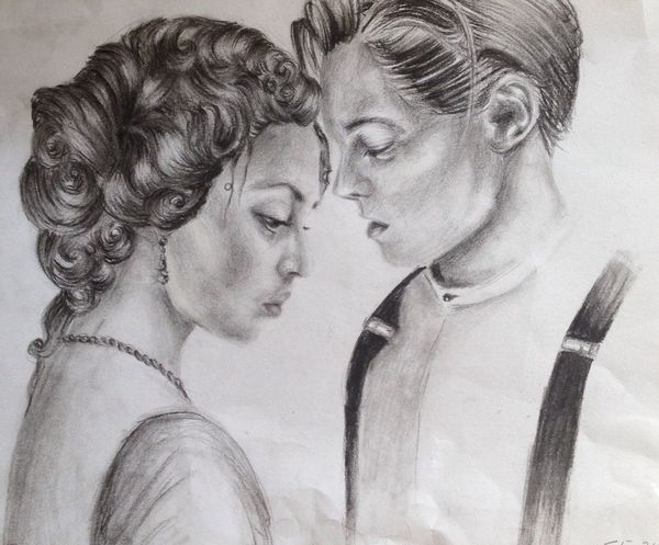 Titanic Leonardodicaprio  Drawing Art