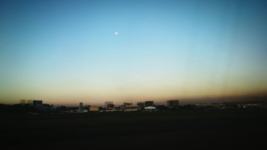 City View  Manila Discover Your City City Airport Moon Sunrise Cityscape Morning Sky Xperiashot