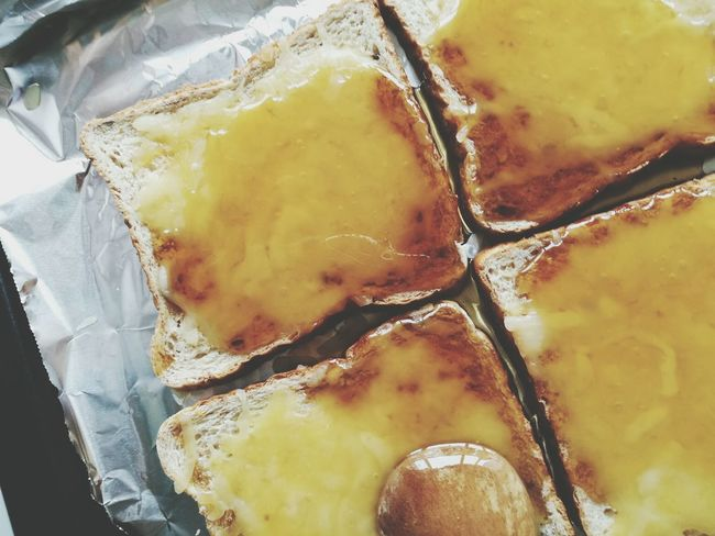 TOASTCHEESEHONEY No People Food And Drink Full Frame Indoors  Freshness Food Close-up Toasts Cheese Toast Bread Snacks Time Aerial Shot Breakfast View From Above The Week On EyeEm Food Stories