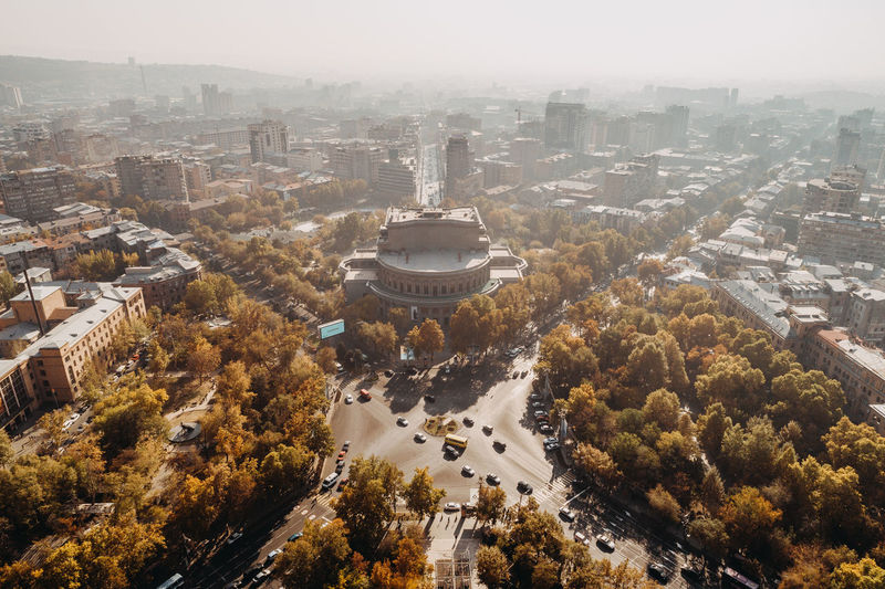 High angle view of yerevan