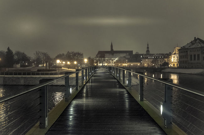 Adventure Bridge Bridge - Man Made Structure Discover  Discover Your City Lowsaturation Night Nightphotography Nighttime Photography Picoftheday Pictureoftheday River Streetphotography Travel Travelphotography Winter Wroclaw, Poland