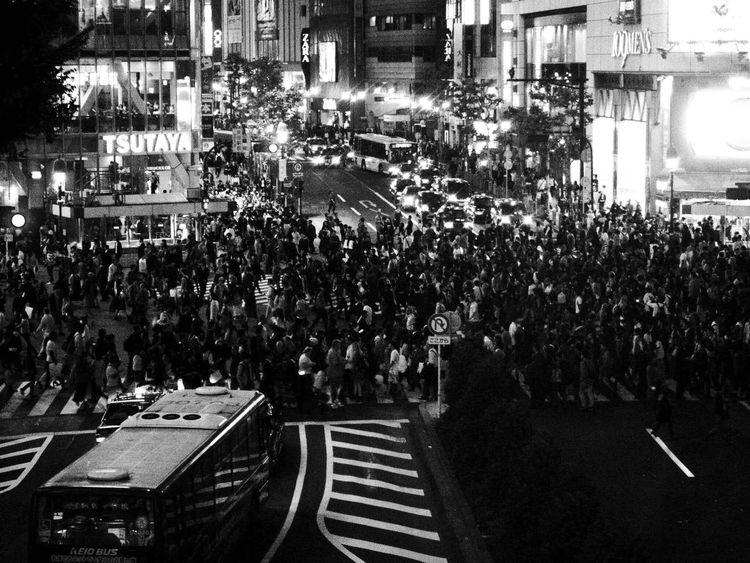 Scramble Crossing Intersection Blackandwhite Monochrome Shibuya Shibuyacrossing