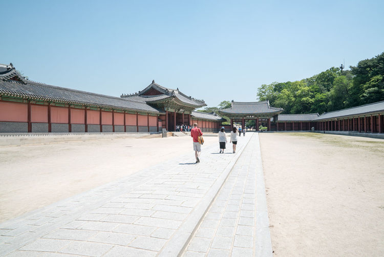 Tourists Walking At Changdeokgung Palace During Sunny Day