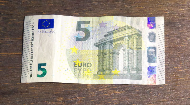 Close-up Currency Directly Above Euros Finance Geldscheine Indoors  Money No People Paper Currency Savings Table Wealth