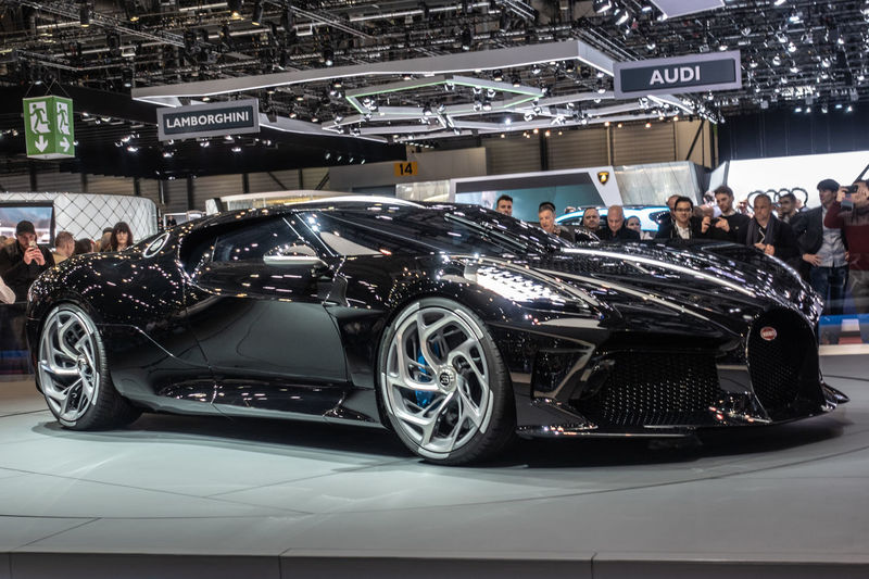 Mode Of Transportation Transportation Motor Vehicle Car Bugatti Geneva GenevaInternationalMotorshow2019 Bugatti La Voiture Noir Exhibition Blackandwhite